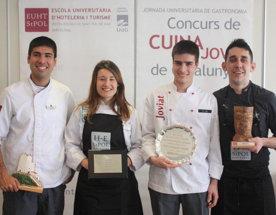 Guanyadors de la 30ª edició del Concurs de Cuina Jove de Catalunya