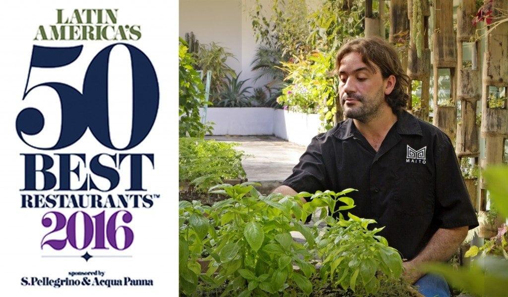 Mario Castrellón new entry in the prestigious Latin Americas's 50 Best Restaurants list