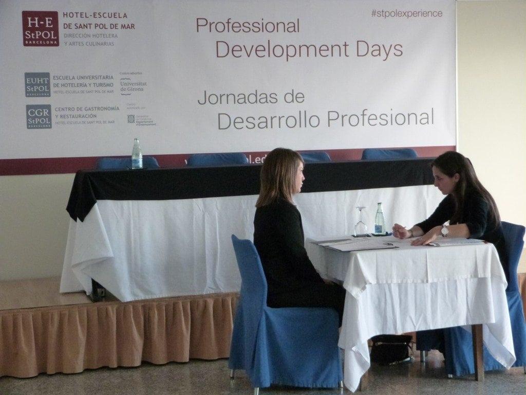 Gran volúmen de entrevistas en las Jornadas de Desarrollo Profesional