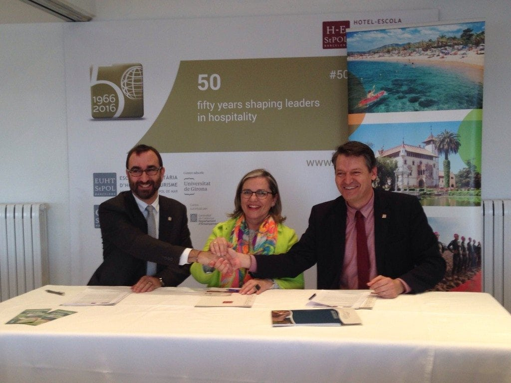 "EUHT StPOL and the Consortium of Tourist Promotion ""Costa del Maresme"" have created a Scholarship to promote Hospitality Management studies"