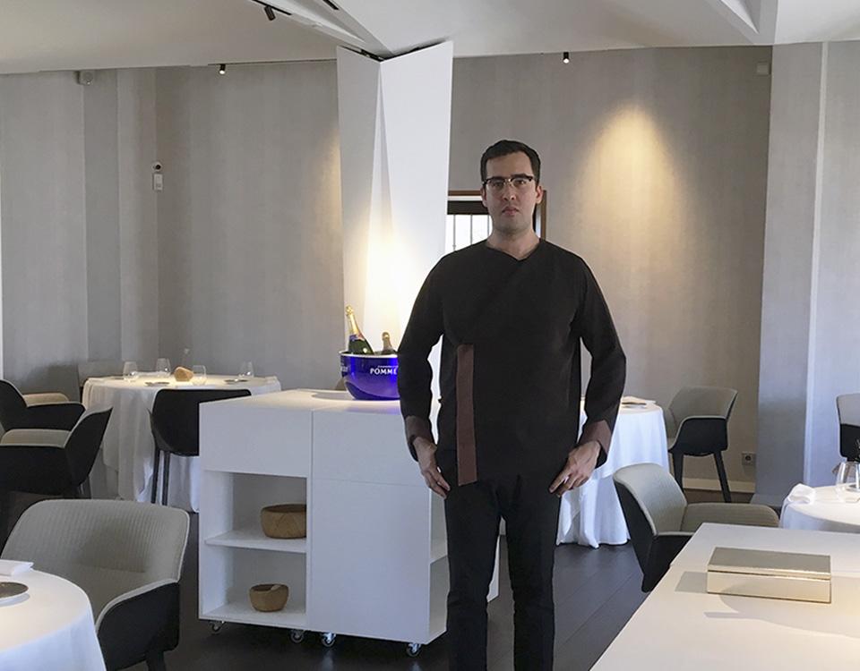 De prácticas en el restaurante Cocinandos, con una estrella Michelin