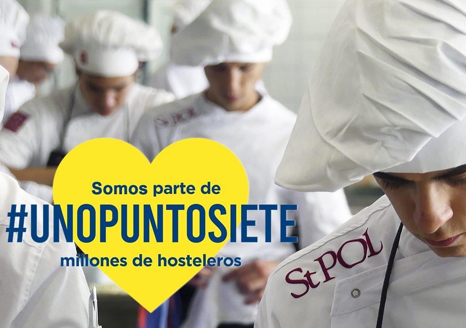 La plataforma #Unopuntosiete nace como aglutinadora del sector de la hotelería y restauración en España para dar voz a las reivindicaciones del sector ante los efectos económicos negativos producidos por la crisis del coronavirus