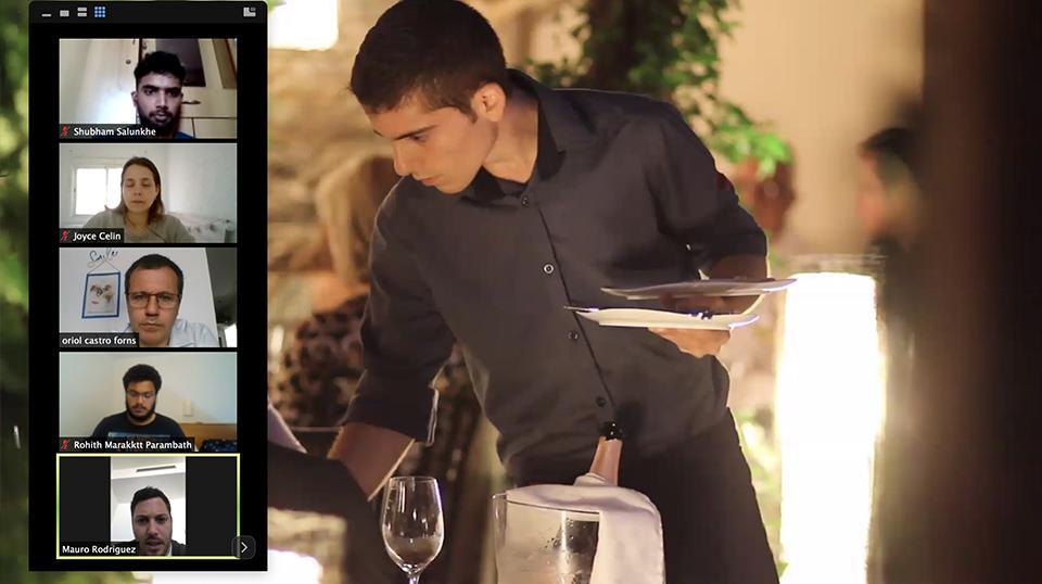 El alumnado del Máster en Artes Culinarias y Dirección de Cocina ha asistido a una masterclass online de Oriol Castro, chef del restaurante DISFRUTAR.