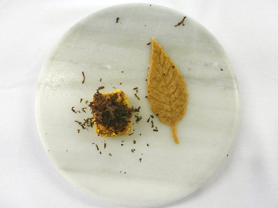 Un dels plats del Menú del Xef del restaurant amb dues estrelles Michelin Bo.Tic